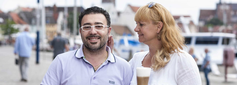 Paolo Volpe mit Frau